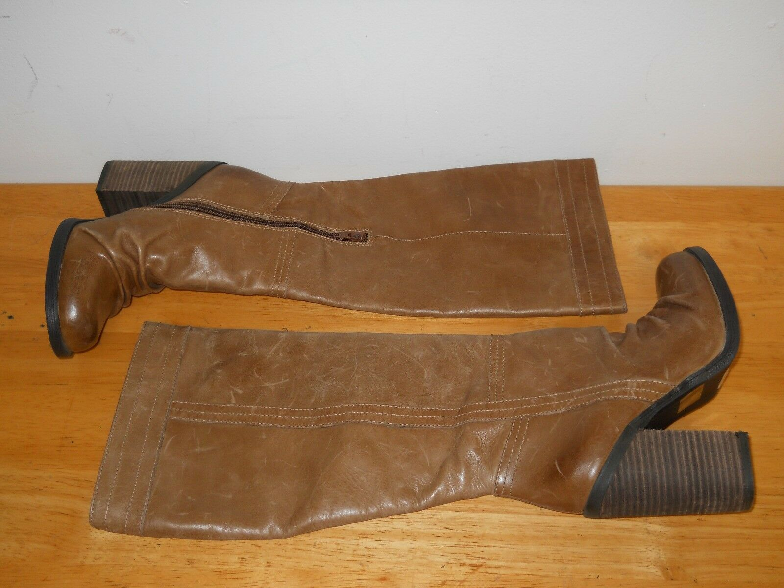 Jessica Simpson  Damenschuhe Tustiny Braun Leder Heel Stiefel 5.5 M Schuhes Distressed