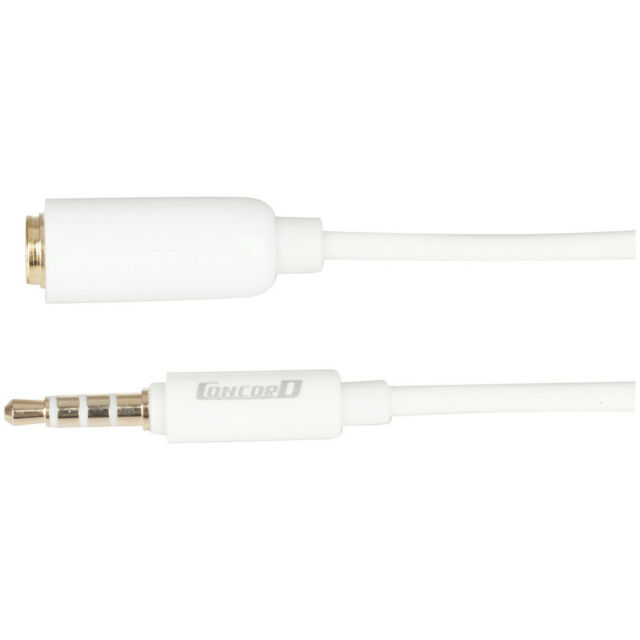 3.5mm 4 Pole Plug to 3.5mm 4 Pole Socket AV Extension Cable - 2m