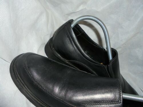 7 Eu Black 41 Leather Men Slip Vgc Shoes Duck On Size Uk wzR8HK5qx