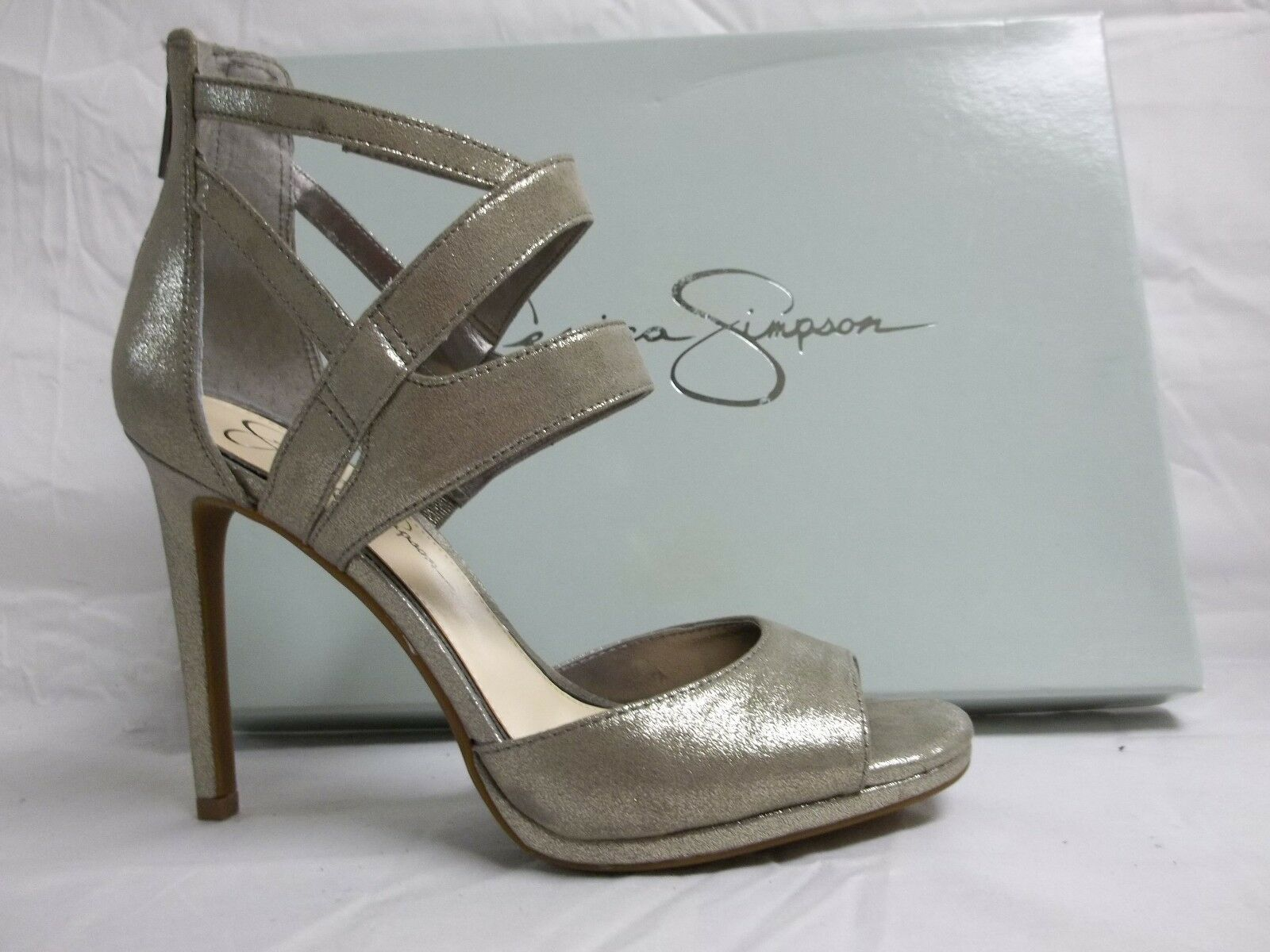 Jessica Simpson Size 8 M Mariani Slate Open Toe Heels New Womens shoes