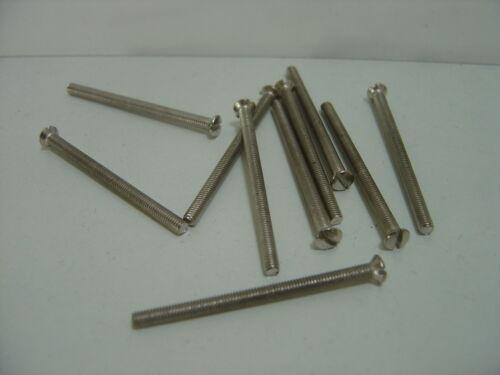 10 prise électrique Visage Plaque Vis Nickel zinc laiton 25 30 35 40 50 75 mm