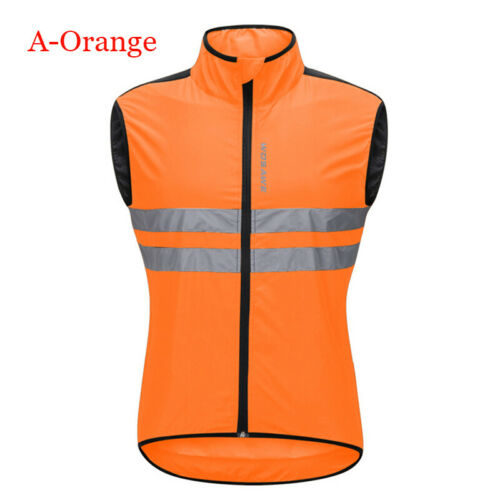 Unisex Reflective Vest Safety Sport Jacket for Cycling Running Riding New