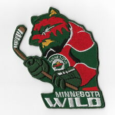 Minnesota Wild 8.5cm x 5.5cm Sew Ironed On Badge Embroidery Applique Patch
