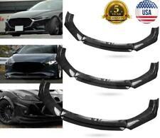Carbon Fiber Black Universal Car Front Bumper Lip Spoiler Splitter Protector Us Fits Toyota Supra