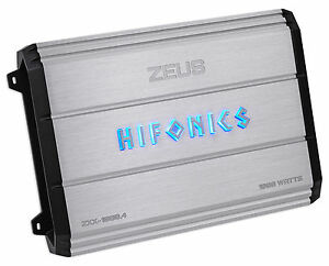 New Hifonics Zeus ZXX 1000 4 1000 Watt RMS 4 Channel Car Amplifier Class AB Amp
