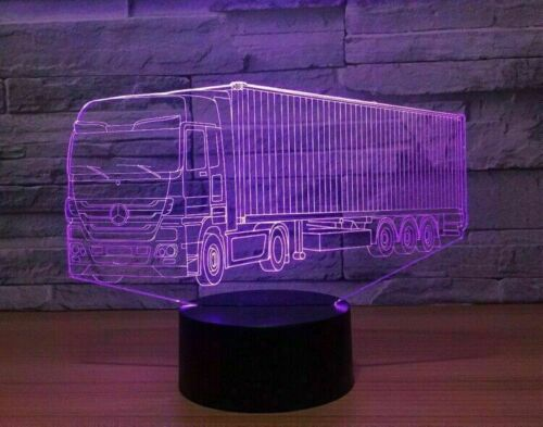 Mercedes Container truck 3D LED Lamp Remote control Can be personalised