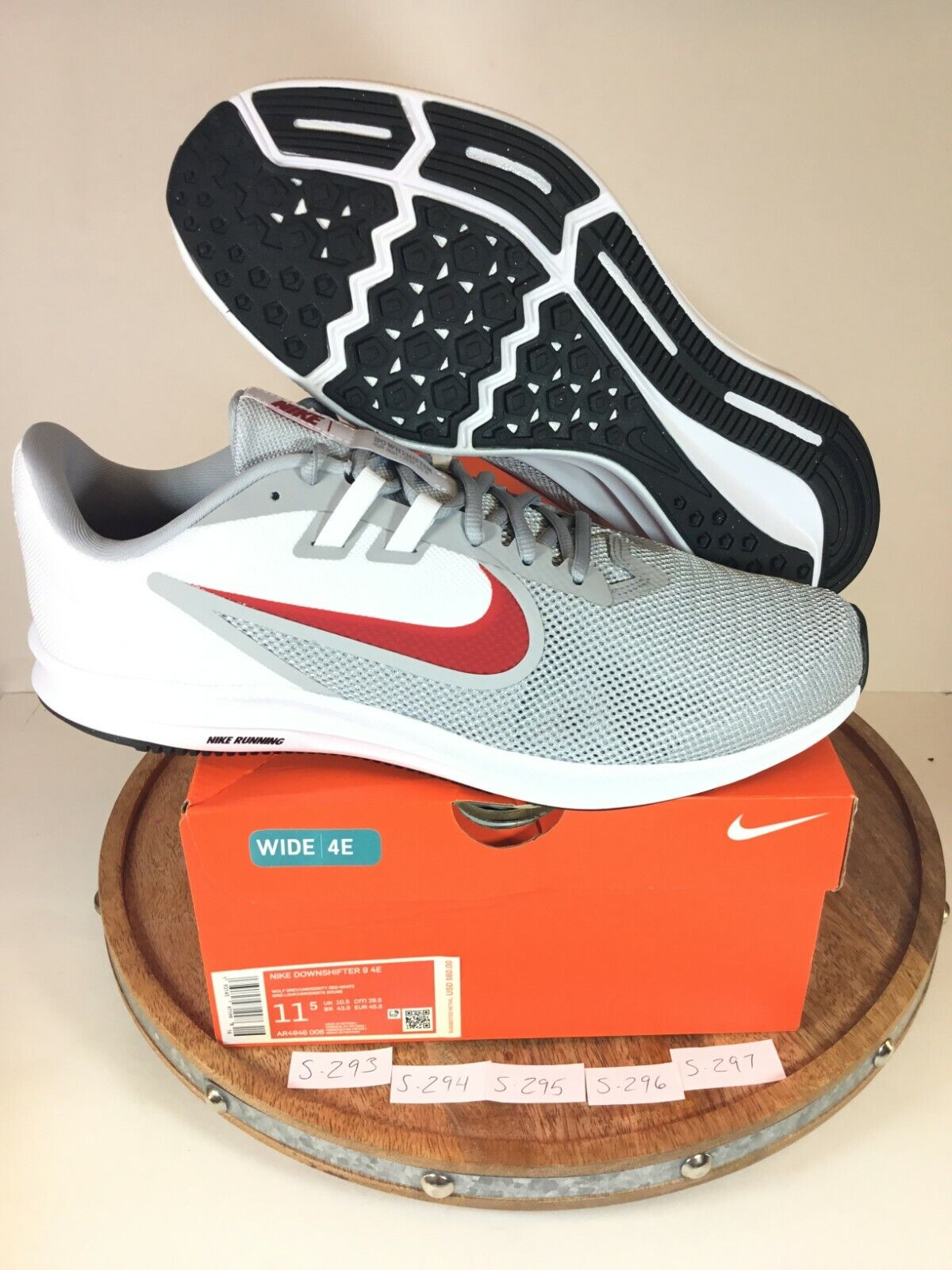 Nike Downshifter 9 Mens Running SNEAKERS Shoes Gray Ar4946 006 Size 11 Wide  4e