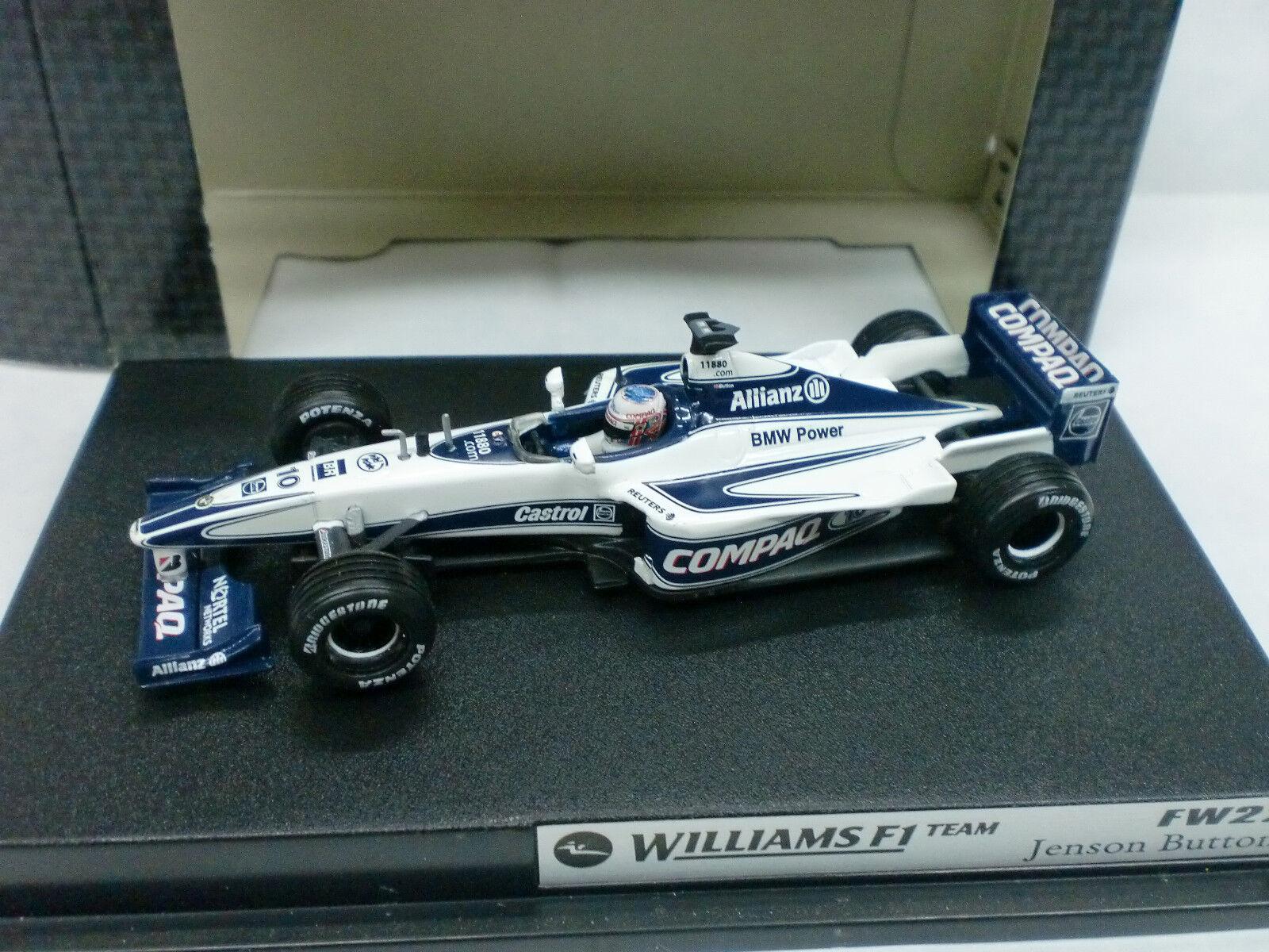 HOT WHEELS 1 43 - WILLIAMS FW 22 F1 2000 - J. BUTTON