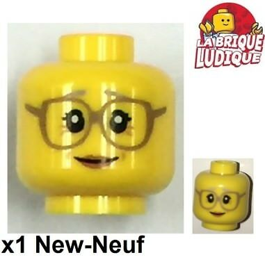 Abile Lego 1x Minifig Tête Head Grand Mère Grandmother Glasses Lunette 3626cpb1568 New