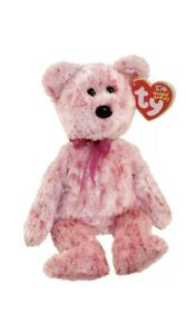 TY Beanie Baby - SMITTEN the Pink Bear -  Pristine with Mint Tags - RETIRED
