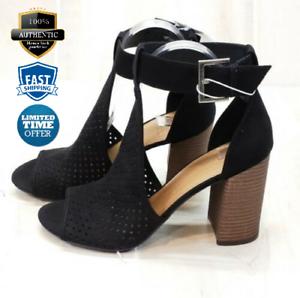 Universal Thread Hannah Microsuede Block Heel Laser Cut T-Strap Women/'s Sandals
