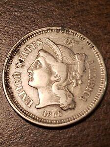 1866 3 Cent Nickel