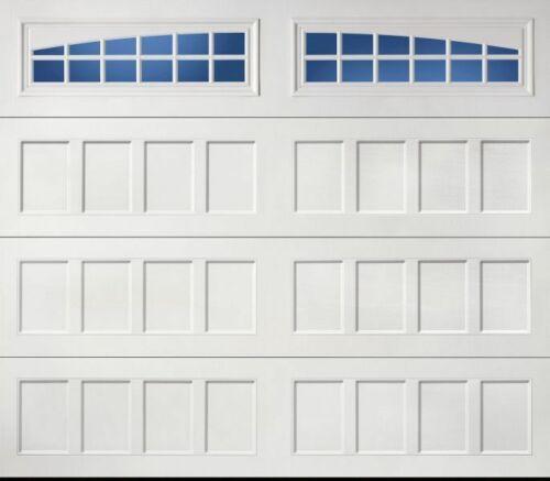 2 Amarr Moonlite Decratrim Window Insert Long Panel White Garage Doors Curb Appl