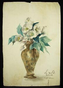 GéNéReuse Fleurs Et Vase Lucie De Boissoudy Fille Du Vice Amiral Philippe Baucheron 1886
