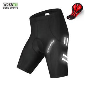 WOSAWE-New-Men-039-s-Cycling-Shorts-4D-Padded-Bike-Bicycle-Half-Pants-Summer-Black