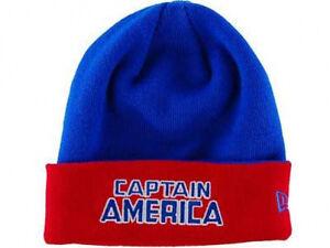 f74f70a684959 Captain America Marvel Comics Hero Flip It Up New Era 2 in 1 Knit ...