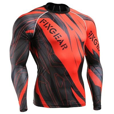 FIXGEAR CFL-68 Compression Shirts Base Layer Under Skin Tight Gym Training MMA