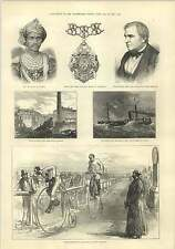 1875 Penny Farthing Bicycle Race Lillie Bridge West Brompton Guicowar Baroda