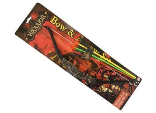 """16/"""" Bow /& Arrow Set avec 3 flèches plastique arc et flèche Nouveauté Garçons Jouet Cadeau"""