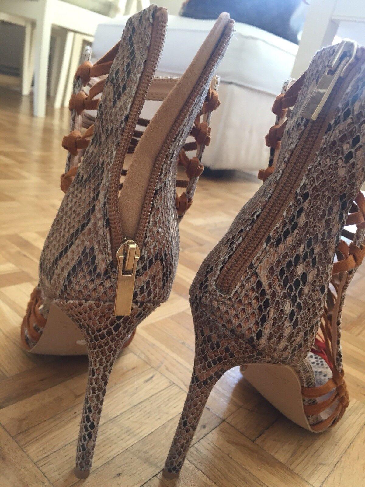 Reptil Lace Up High Heels Gr. 41 Blogger Gladiator Heels Heels Heels Animal Print b02cea