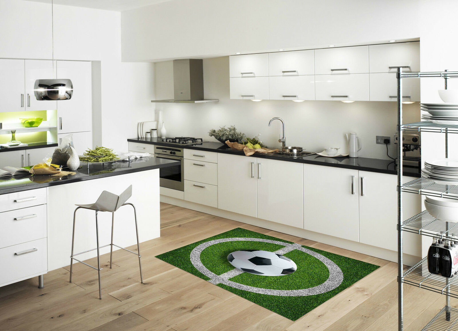 3D Football Field Kitchen Mat Floor Murals Wall Print Wall Deco AJ WALLPAPER CA