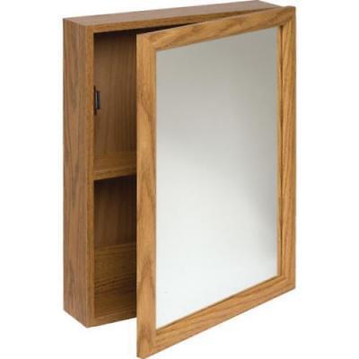 16w X 20 Quot Surface Mount Oak Wood Mirrored Medicine Cabinet