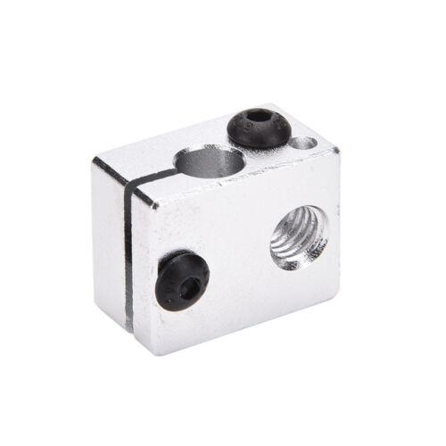 Aluminium Heat Block For 3D Printer V6 J-head Makerbot MK7//MK8 Extruder  `