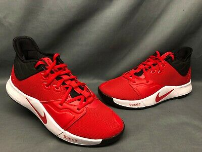 PG 3 Basketball Sneakers Mesh Red Black