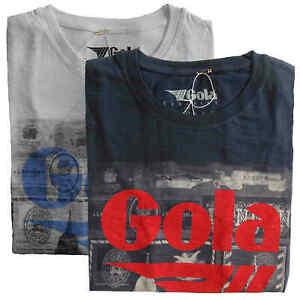 T-shirt-Maglia-Maniche-Corte-GOLA-Classic-100-Cotone-Uomo-Men-Bianco-White-Blu