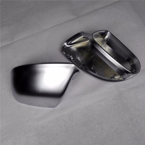 for Audi Q5 08-16 car mirror cover cap housing electroplating alu matt silver