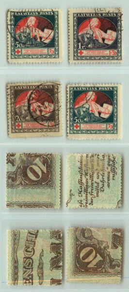 Acheter Pas Cher Lettonie 1920 Sc B1-b4 Utilisé. Rt9308 Blanc Pur Et Translucide