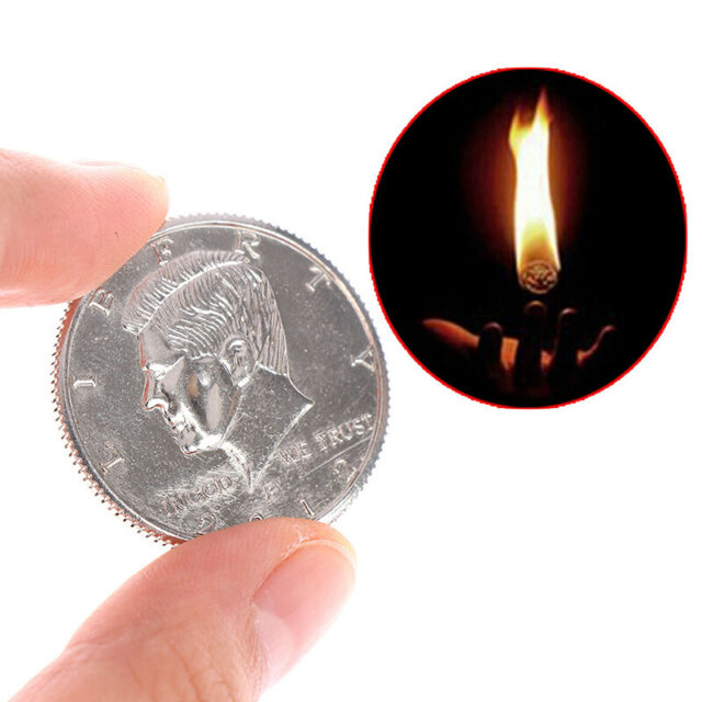 Amazing Fire Coin Magic Tricks Joke Magic Props Close Up Magic Show Party TIJUS