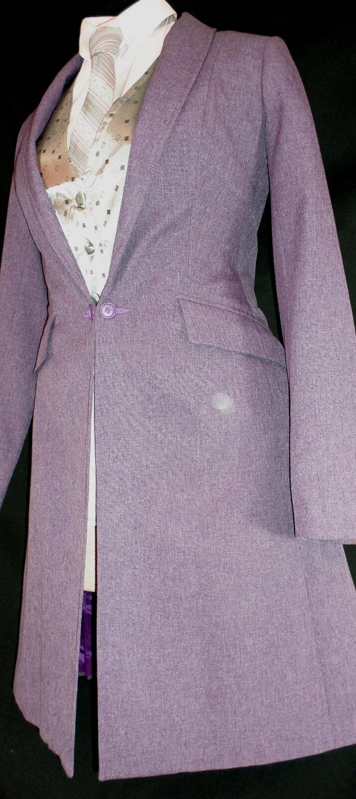 Reed  Hill Ladies Saddleseat Day Coat Lt. Plum Heather Polyester size 10 - USA  creative products
