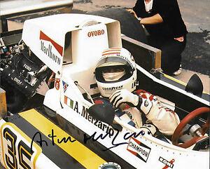Arturo-Merzario-firmata-10x8-F1-MARZO-Cosworth-GP-BRITANNICO-761-marche-Hatch-1976