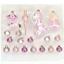 19 Boules de Noël boules de noël verre Set rose avec dentelle Cheval