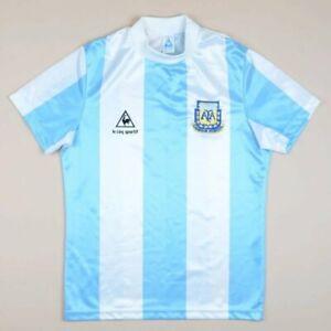Argentine-Coupe-du-monde-1986-Home-Football-Shirt-Le-Coq-Sportif-Vintage-Maradona-Era
