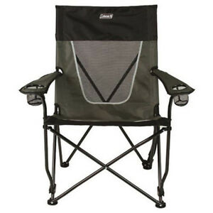 Coleman Ultimate Comfort Sling Chair Gray Folding Seat Portable