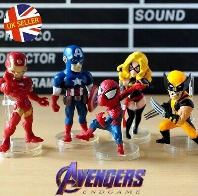Cake Toppers Avengers 8 Figures Set End Game Infinity Thor Iron Man UK Seller