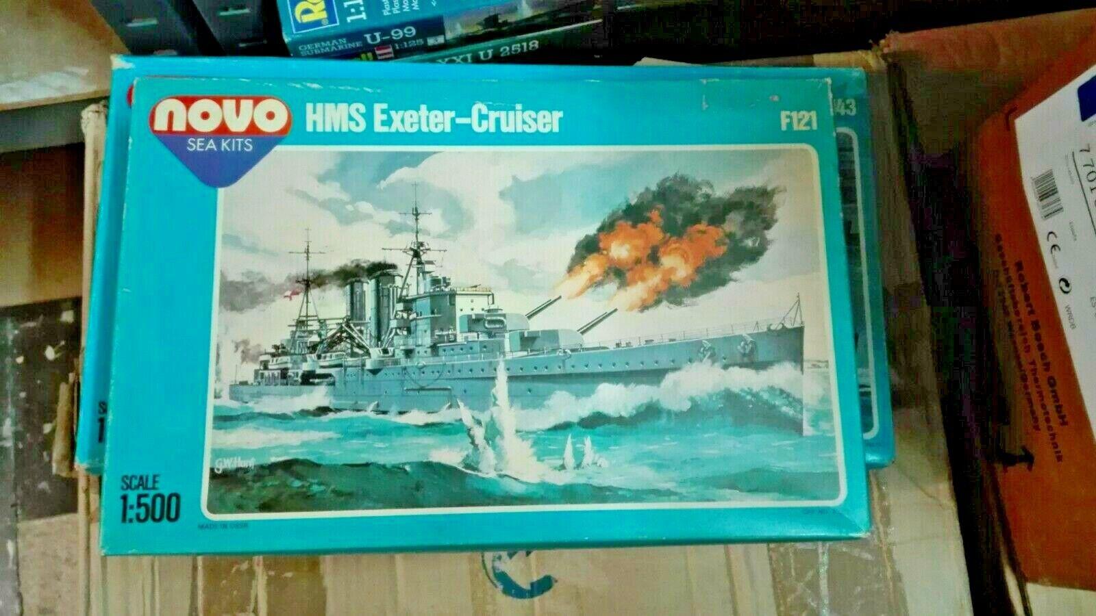HMS EXETER CRUISER NOVO   ESCALA  1 500  BUEN ESTADO
