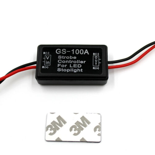 GS-100A Flash Strobe Controller Box Flasher Module for LED Brake Tail Stop Light