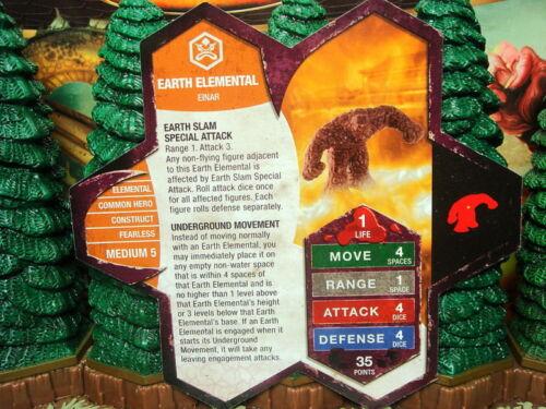 Earth Elemental Heroscape Champions Forgotten Realms