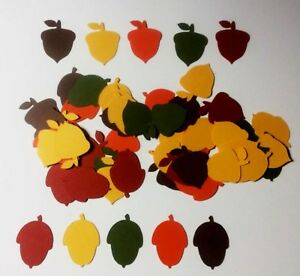 THANKSGIVING-DIE-CUTS-SET-125-ACORNS-CONFETTI-CARD-DECORATIONS-EMBELLISHMENTS