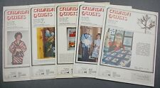 Lot of 5 Canada Quilts Magazines 1980 Issues 32 to 36 Vol VIII No. 1, 2, 3, 4, 5