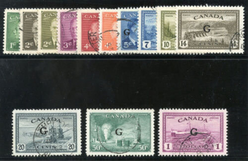 Canada 1950 KGVI Official set complete VF used. SG O78190. Sc O1625, CO2.