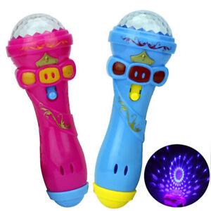 HOT-DIVERTENTE-Illuminazione-Microfono-Wireless-modello-REGALO-MUSICA-KARAOKE-Carino-Mini-Giocattolo