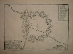 062 nicolas de fer map 1691 & 1705 ath county of Hainaut netherlands belgium