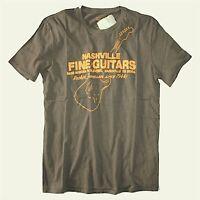 Lucky Brand - NWT - Mens XXL - Brown Nashville Guitar Cotton T-Shirt - Guitars