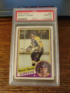 Marcel Dionne 1984 Topps Hockey Card #64 PSA 10 Gem Mint LA Kings Pop 11 Z
