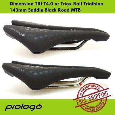 Details about  /Prologo Dimension TRI T4.0 Tirox Rail Road MTB Triathlon Saddle Black 143mm