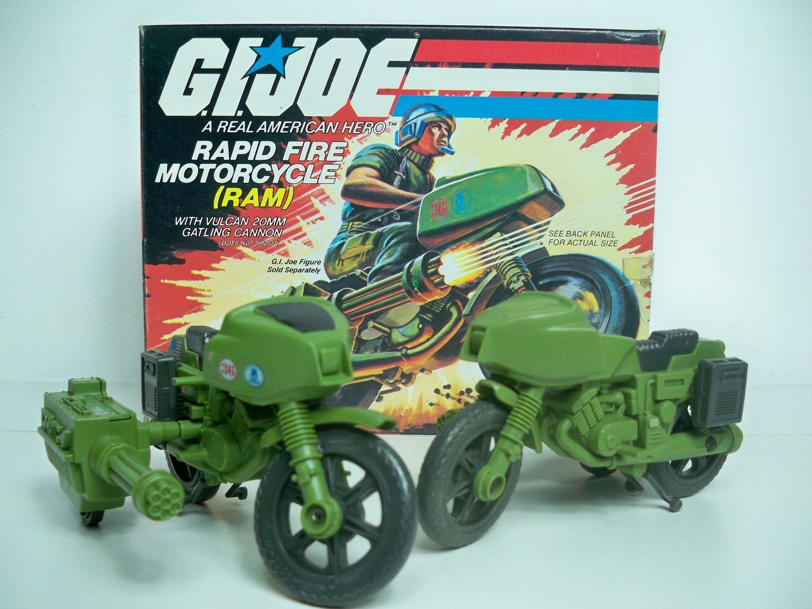 D1005146 RAM RAM RAM MOTORCYCLE SET OF 2 GI JOE 100% completare bluPRINTS REPRO DECALS 09162d